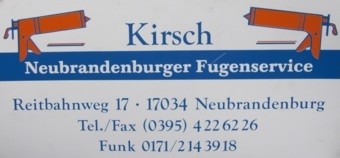Neubrandenburger Fugenservice Kirsch ~ SV Burg Stargard 09 e.V.