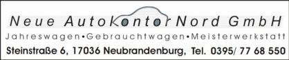 Neue Autokontor Nord GmbH ~ SV Burg Stargard 09 e.V.